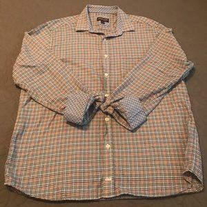 Men's XL Johnston& Murphy button long sleeve shirt
